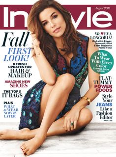 Eva Longoria | Covers InStyle Magazine's August 2015 Issue