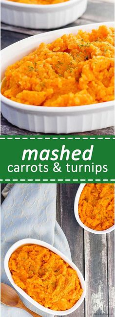 Low Carb Meals Mashed Carrots and Turnips - An easy low carb alternative to mashed potatoes for your Thanksgiving dinner, these mashed carrots and turnips are a little bit sweet and oh so tasty! Low Carb Side Dishes, Vegetable Side Dishes, Side Dish Recipes, Low Carb Recipes, Dinner Recipes, Cooking Recipes, Healthy Recipes, Easy Recipes, Dinner Entrees