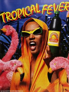 Grace Jones in Claude Montana's by Alain Mikli.  This is just...wrong.