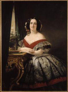 Madame Pierre-Paul Pecquet du Bellet, née Sarah Anne Elisabeth Moncure, ca. 1857 | In the Swan's Shadow