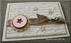 Weihnachtskarte mit Embossingschrift