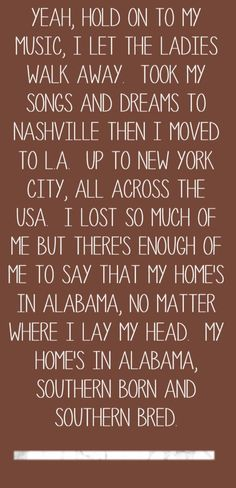 Alabama - My Home's in Alabama - song lyrics, song quotes, songs, music lyrics, music quotes,