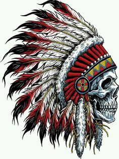 tattoos - Details about Indian Chief Skull Decal Sticker Car Truck Window Bumper Laptop Wall Indian Headdress Tattoo, Indian Skull Tattoos, Indian Chief Tattoo, Indian Head Tattoo, Indian Tattoo Design, Indian Tattoos For Men, Cool Tattoos For Men, Tattoo Drawings, Body Art Tattoos