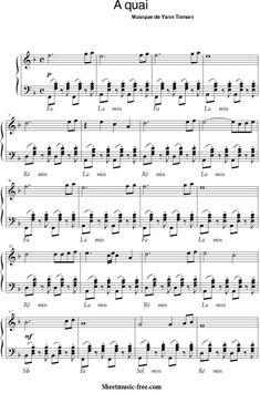Download Sheet Music, Sheet Music Pdf, Printable Sheet Music, Piano Sheet Music, La Dispute, Song Lyrics, Songs, Instruments, Yann Tiersen
