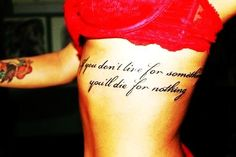 Hot Side Rib Quote Tattoos for Girls - Big Side Rib Quote Tattoos for Girls