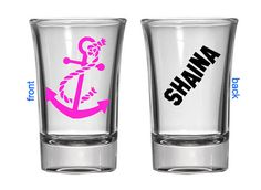 Superb Anchor Shot Glass With Name   Barware Shot Glass   Customized Barware    Personalized Shot Glass