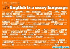 Funny pictures about English is a crazy language. Oh, and cool pics about English is a crazy language. Also, English is a crazy language photos. Teaching Phonics, Teaching Reading, Teaching Humor, Teaching Literature, Jolly Phonics, Teaching Music, Friday Humor, Second Language, Teaching English