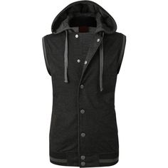 LE3NO Mens Casual Zip Up Hoodie Vest ($13) ❤ liked on Polyvore featuring men's fashion, men's clothing, men's hoodies, mens hoodies, mens hooded sweatshirts, mens hoodie, mens sweatshirts and hoodies and mens zip up hoodie