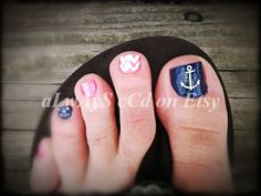 Anchor Toe Nail Vinyl Decal NOW 20 TOTAL by aLwAyScCd on Etsy, $4.50