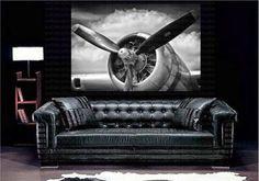 Retro Airplane Retro Aircraft Plane Propeller Art Canvas Poster Print Home Wall Decor Aviation Furniture, Aviation Decor, Airplane Decor, Airplane Wall Art, Gold Wall Decor, Canvas Wall Decor, Wall Art Decor, Canvas Home, Canvas Art