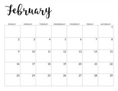 Printable School Calendar to use in the classroom or for a student binder this school year. Complete calendar from August to June. Calendar 2019 Printable, February Calendar, Monthly Calendar Template, Monthly Planner Printable, Printable Calendar Template, Templates Printable Free, Email Templates, Planner Template, Teacher Calendar