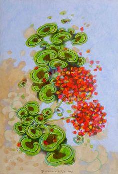 """""""Gerani"""". Dipinto ad olio originale di dipinti e disegni di Federico Cortese - pezzi unici ed originali su DaWanda.com"""