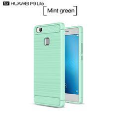 Huawei P9 lite Funda, Carcasa Case TPU Fibra de carbon Dibujo Funda para Huawei P9 lite(Verde): Amazon.es: Hogar