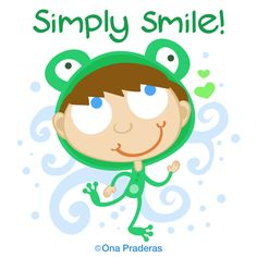 Simply smile! #qotd #happy #positive #kids #ladywavedoodle http://www.onapraderas.com/simply-smile/