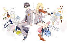 kousei & kaori ART CREDITS TO @COSMOLADE ON TUMBLR.