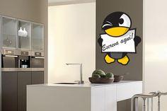 Adesivo Pinguim de Recado
