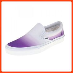 f8237ab9ee Vans Womens Purple   True White Classic Slip On Sneakers-UK 7