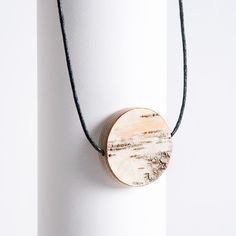 Materials: birch bark, birch, 925 silver Dimensions: diameter thickness about silver chain with a lock Birch Bark, Jewelry Tree, Wood Work, Jewelry Branding, Plywood, Finland, 925 Silver, Artsy, Surface