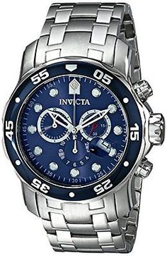 6b2bddd2c51 Invicta Men s 0070 Pro Diver Collection Chronograph Stainless Steel  Watch...New Cool Watches
