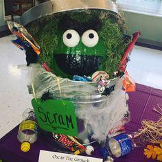 Oscar the grouch pumpkin diy
