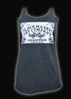 Black Market Art Ouija Board Unfinished Racer Back Tank - Black Market Art - Brands