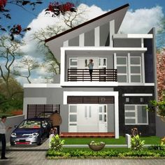 Simple and Modern Inspirational Minimalist Home Designs House Paint Design, Home Building Design, Building A House, Minimalist House Design, Minimalist Home, Modern House Design, Townhouse Designs, Latest House Designs, Modern Architecture House