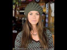 Вязаная шапка крючком на осень - YouTube