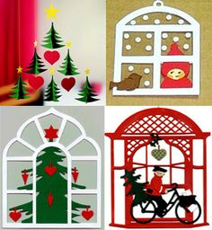 I love the Danish tradition of papercuts to decorate for Christmas.