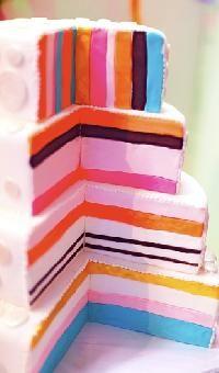 Liquorice Allsort cake by Cake Boudoir