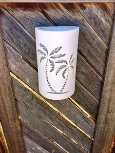 Palm Tree Light, Wall Sconce, Wall Light, Palm Tree Outdoor Lighting, Made to Order, Custom Made Lighting, Porch Light, Tropical Lighting
