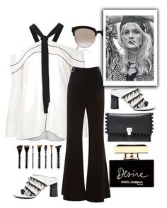 """""""Black and white"""" by grinevagh ❤ liked on Polyvore featuring Proenza Schouler, Christian Dior and Dolce&Gabbana"""