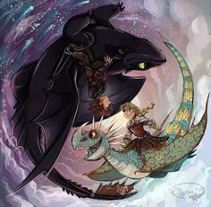 HTTYD 2 Night and Day ...   How to train your dragon, toothless, hiccup, night fury, dragon, viking, deadly nadder, stormfly, astrid
