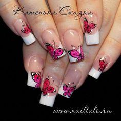 Easy toenails design - How-to-Paint-Flamingo-Nail-Art-Tutorial-Ideas Butterfly Nail Designs, Butterfly Nail Art, Toe Nail Designs, French Nails, Cute Nails, Pretty Nails, Flamingo Nails, Gel Nagel Design, Nagel Hacks