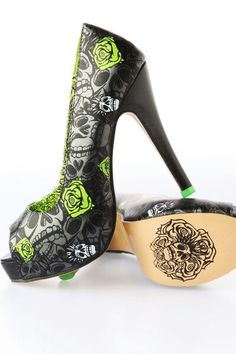 Skulls and Roses Shoes