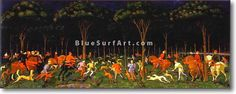 The Hunt in the Forest - £124.99 : Canvas Art, Oil Painting Reproduction, Art Commission, Pop Art, Canvas Painting