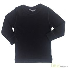 Linzi Merino Black Thermal Top