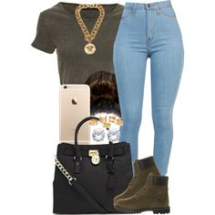 A fashion look from November 2014 featuring Crafted t-shirts, Timberland ankle booties and MICHAEL Michael Kors tote bags. Browse and shop related looks.