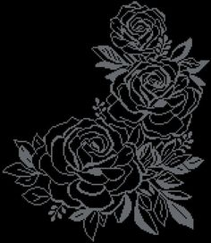 This neat and tender cross-stitch pattern is pretty large, but easy and fast-to-. Cross Stitch Rose, Cross Stitch Flowers, Pdf Patterns, Beading Patterns, Cross Stitch Designs, Cross Stitch Patterns, Cross Stitching, Cross Stitch Embroidery, Broderie Bargello