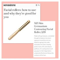 Woman&Home features Tone&Lift Contouring Facial Roller as one of the top facial rollers on the market.  @womanandhome @MZSkinOfficial #MZSkin #DrMaryamZamani #MZGlow #Glowingskin #luxuryskincare #skincare #facialroller #tone #lift #contour #press Glowing Skin, Being Used, Contour, Facial, Skin Care, Contouring, Facial Treatment, Facial Care, Skin Treatments
