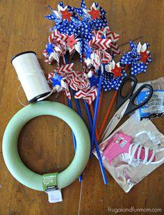 Pinwheel Wreath DIY