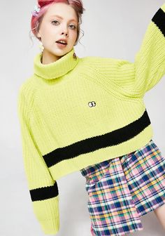 Quirky Fashion, Cute Fashion, Black Stripes, Jumper, Street Wear, Turtle Neck, Knitting, My Style, Sweaters