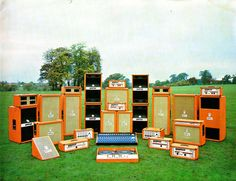 orange amps pile of tone. check the DJ setup with twin record player decks!