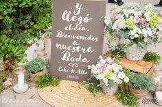 La boda mint de Alba y Coke Chalkboard Wedding, Wedding Signage, Rustic Wedding, Wedding Events, Our Wedding, Dream Wedding, Weddings, Ideas Aniversario, Ideas Para Fiestas