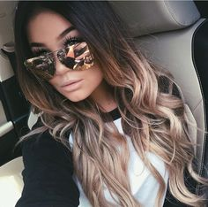 Looking for trending ombre hair color ideas? Find different awesome colors to try and tips to maintain your beautiful ombre hairstyles. Hair 20 Trending Ombre Hair Color Ideas to Try (WITH PICTURES) Balayage Hair, Dark Roots Blonde Hair Balayage, Brown To Blonde Ombre Hair, Ombre Hair Color For Brunettes, Long Ombre Hair, Brown Ambre Hair, Brown Balayage, Ombre Hair Brunette, Brunette Highlights