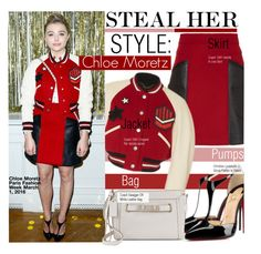 """Steal Her Style-Chloe Grace  Moretz"" by kusja ❤ liked on Polyvore featuring Coach 1941, Christian Louboutin, Coach, PFW, Stealherstyle, fashionWeek, chloemoretz and celebstyle"