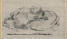 Slumbering Budai (detail). Attributed to Muqi (act. mid- to late 13th c.). Chinese, Southern Song dynasty (1127 to 1279), 13th c. Hanging scroll, ink on paper; 77.1 x 30.9 cm. Kyoto National Museum. Courtesy of Agency for Cultural Affairs of Japan.