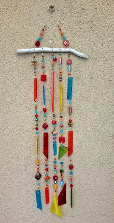 Suncatcher, Windchime, Stained Glass Wind Chime, Glass Sun Catcher, Stained Glass Mobile, 7787