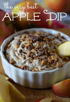The very best apple dip recipe that might make you famous.