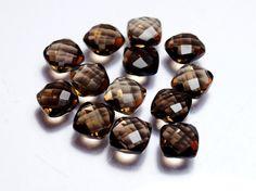 8x8x4 mm 13 Pieces Lot Natural Smoky Quartz Briolette Faceted | Etsy Tourmaline Gemstone, Green Tourmaline, Diy Jewelry Supplies, Smoky Quartz, Cufflinks, Gemstones, Natural, Unique Jewelry, Handmade Gifts