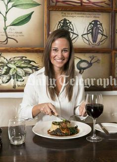 3/4/14 Pippa making crepes in London at the Botanist.